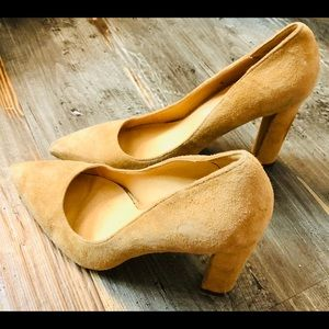 Women's Steve Madden tan suede heels